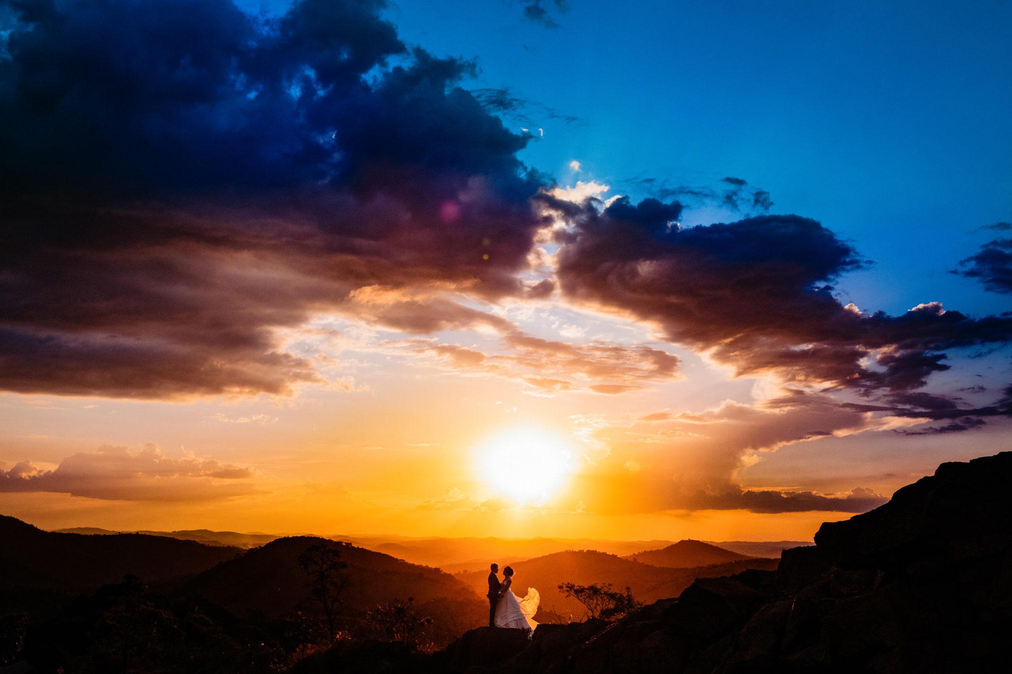 Bunte Hochzeitsfotos