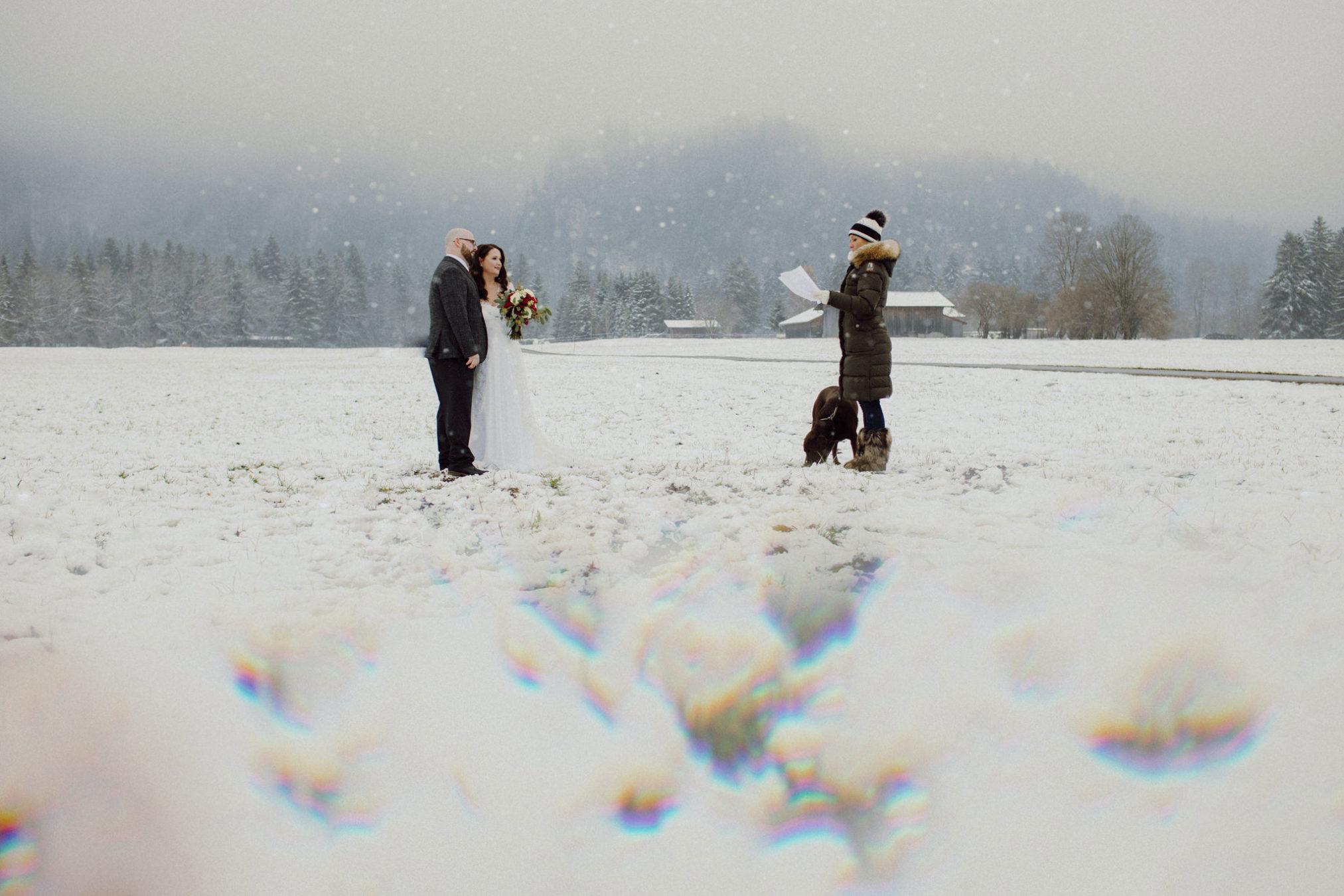 winter Hochzeitsfotos