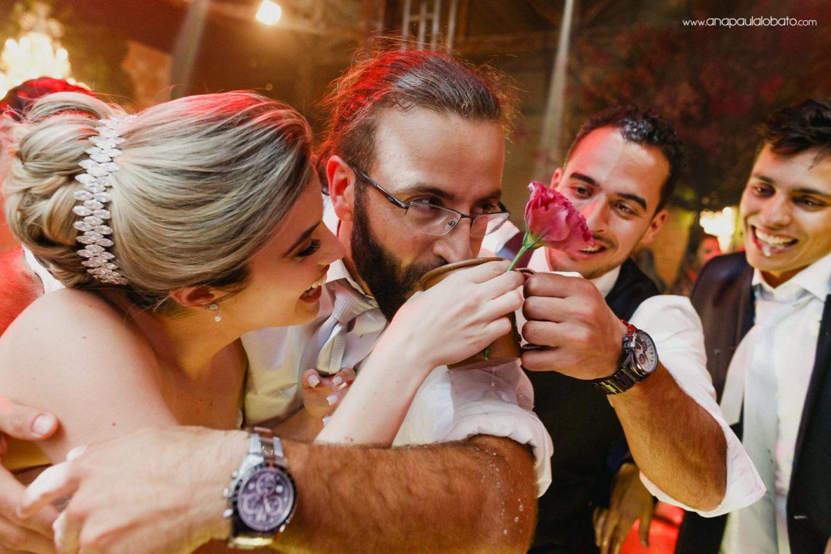 betrunkene Leute in der Hochzeit