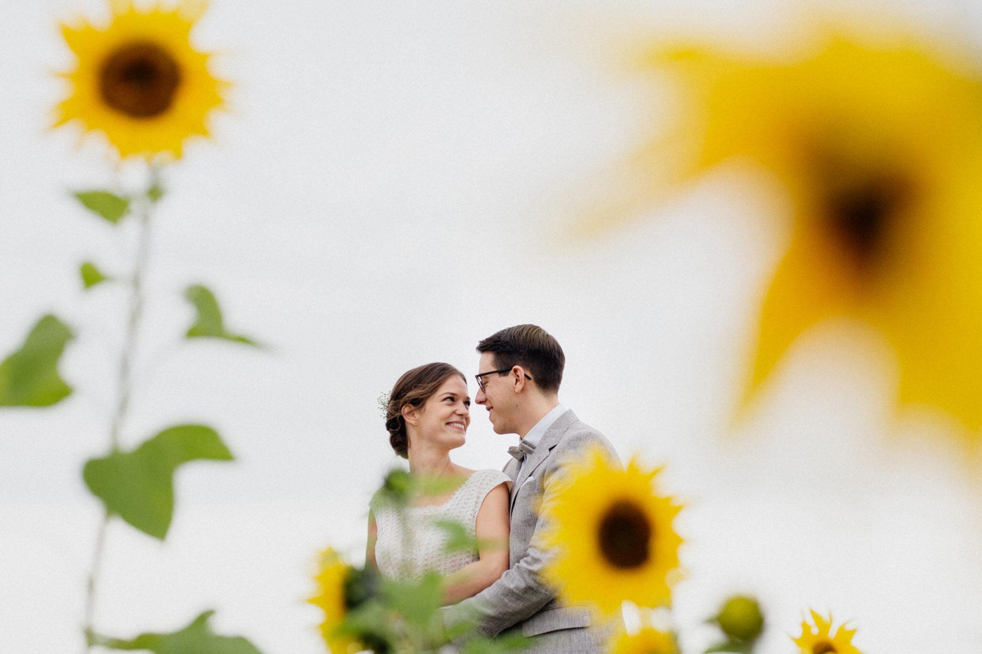sonnenblumen Hochzeitsfotos
