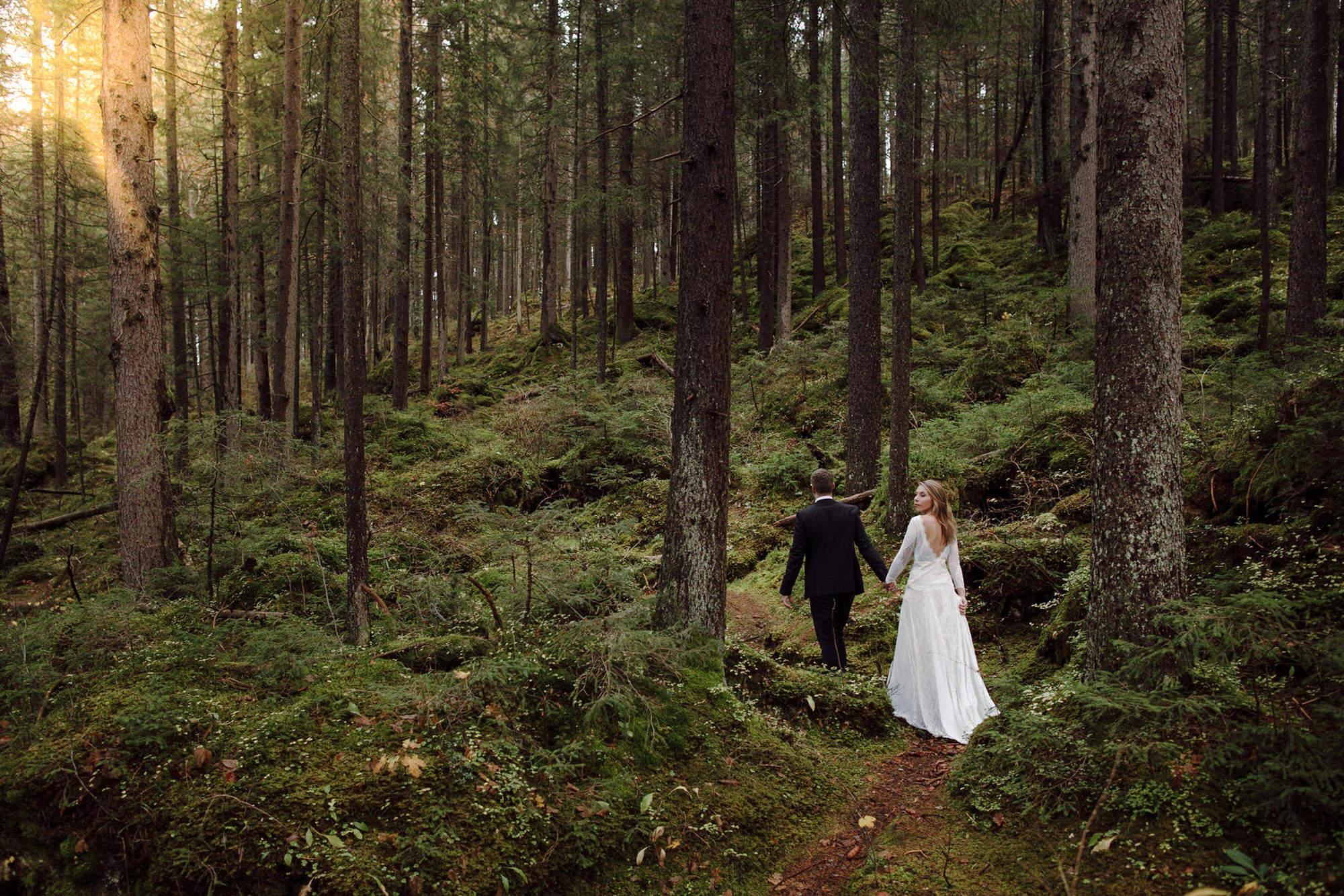 wald Hochzeitsfotos