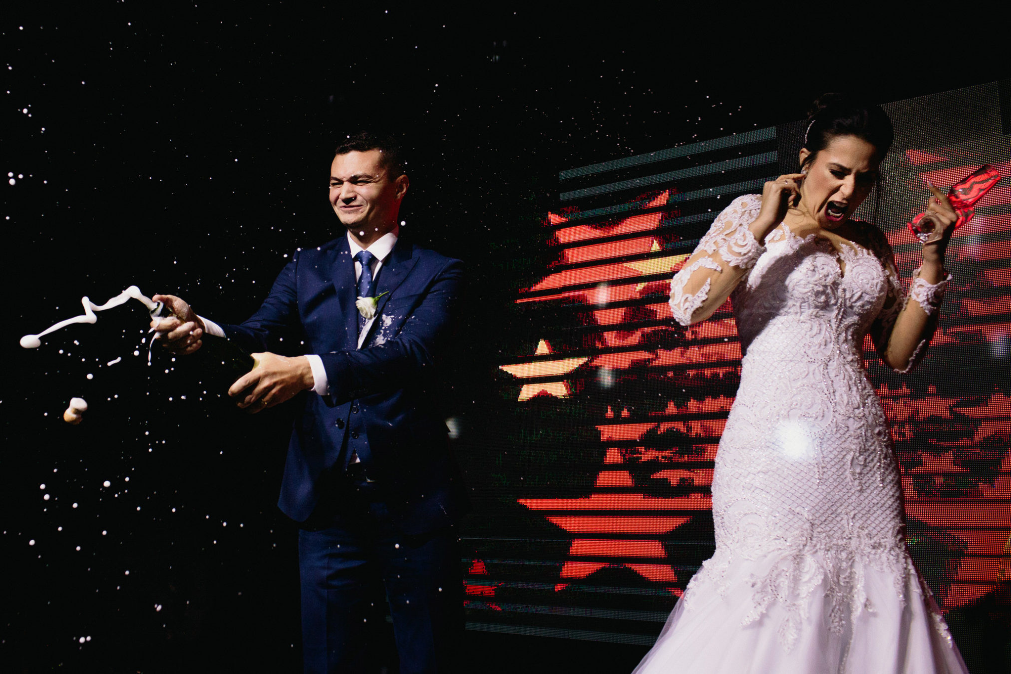 lustige Moment im Hochzeit